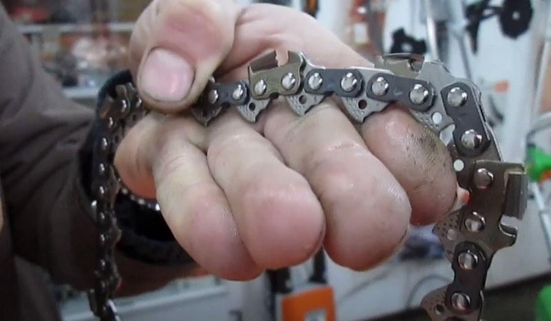 Бензопильная цепь с напайками из победита